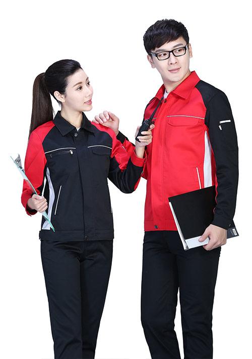 红拼黑时尚工服