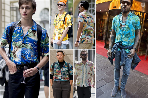 2018春夏男装街拍分析 花式衬衫