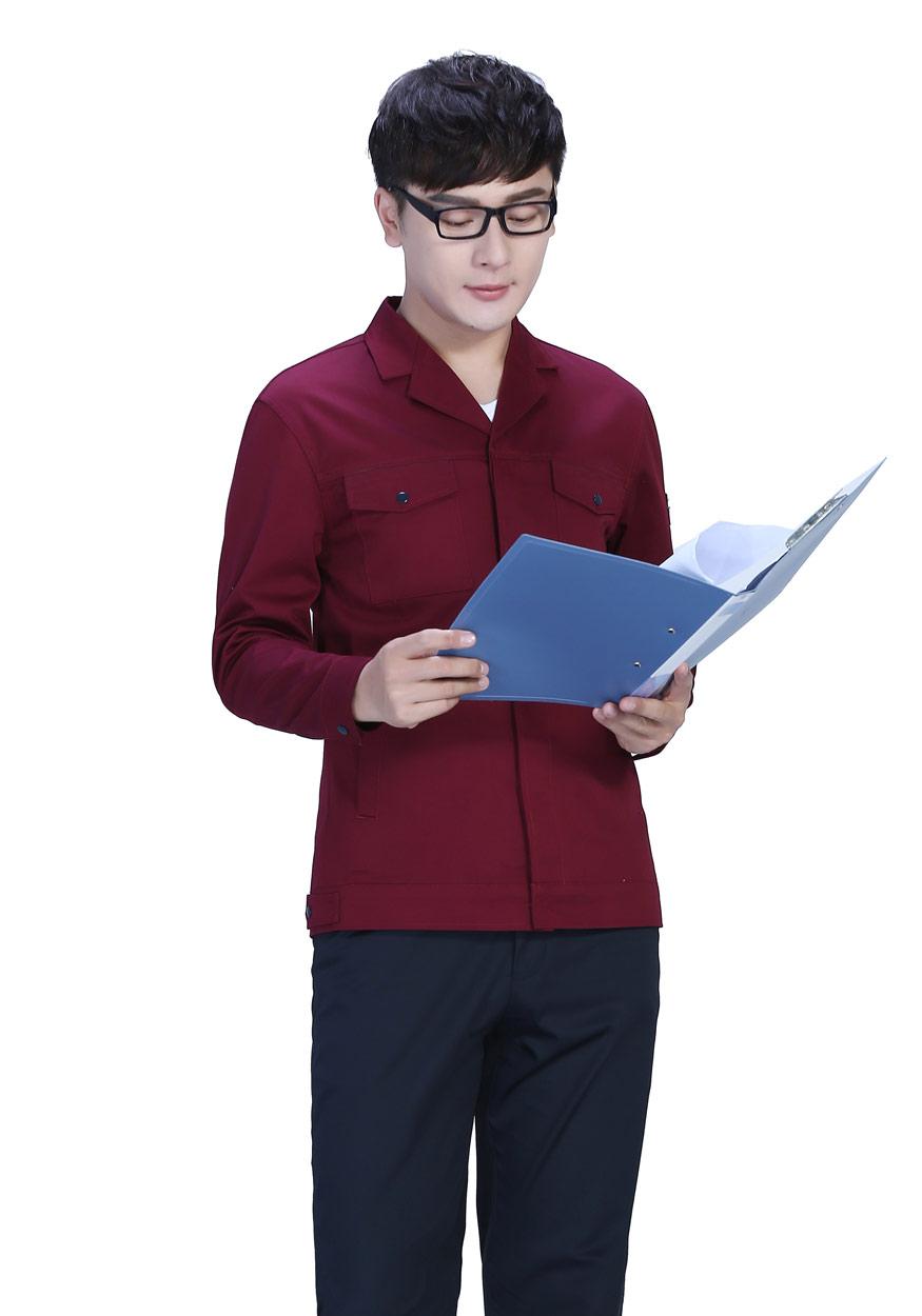 深裤+桔红春秋工作服FY8001